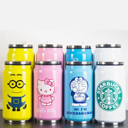 Garrafa de água Letras infantis Latas de Pepsi canecas Casal de estudantes copos de copa Publicidade copos personalizados taça térmica de