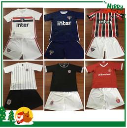 темно-зеленые носки Скидка комплект дети мальчик 2019 коринфского Сан-Паулу Internacional Бразилия Джерси 19 20 ребенок футбол рубашка