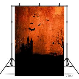 Fondo de castillo impreso online-Castle Bats Dead Tree Photo Telón de fondo para Halloween Fondos impresos por computadora para niños Baby Shower Photoshoot Photobooth