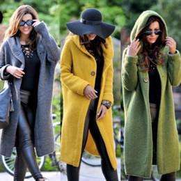2020 cappotto a maglia lunga con cappuccio donna Womens invernale con cappuccio Cardigan maglione Outwear cappotto lungo Donne Maglioni C45 sconti cappotto a maglia lunga con cappuccio donna