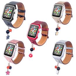 Correa de reloj con adorno de caja para Apple Watch Band Cuero 38mm 42mm Serie 3 2 1 Correa pulsera para Iwatch desde fabricantes