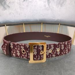 Date La meilleure qualité de couleur or grande D mots boucle ceinture femmes avec boîte 5,0 cm couleurs couleurs ceinture de toile ? partir de fabricateur