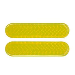 2019 refletor auto X Autohaux 2 Pcs Car Auto Luz De Segurança Refletores Amarelo Adesivos refletor auto barato
