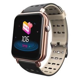 Relógio de tela tft on-line-Tela Y6Pro inteligente Watch Band Cor Pulseira Heart Rate aptidão rastreador 1,3 polegadas TFT impermeável