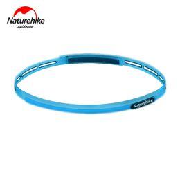 Fascia in silicone per i capelli online-Naturehike NH17Z010-D regolabile sport del silicone fascia Parasudore fascia dei capelli per l'esecuzione di Ciclismo Yoga jogging Pallacanestro