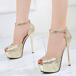 12f958ca9f88b9 14cm elegantes Gold ultra High Heels Braut Hochzeit Schuhe Silber schwarz  Größe 34 bis 39 günstig hochzeit elegante high heels silber