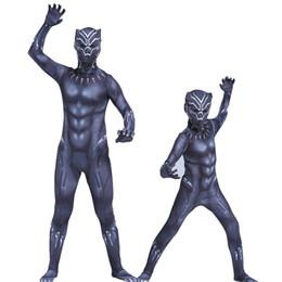 2019 body vert métallisé Panthère noire Costumes Enfants Hommes Costume d'Halloween Capitaine Guerre Civile Guerre Film Marvel Panthère Noire cosplay Hero Costume