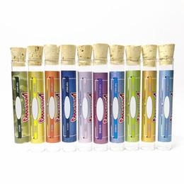 corchos de vidrio Rebajas Lo nuevo maderas 10 Sabores Dankwoods PreRoll Tubos Dank Vidrio plano de corcho envases Tubos Preroll Preroll con holográfico pegatinas de Shiping