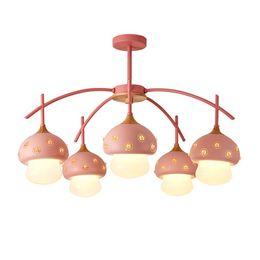 Luces colgantes led lámparas colgantes para forma de seta creativa dormitorio para niños Nordic retro techo colgante de madera arañas lightin desde fabricantes