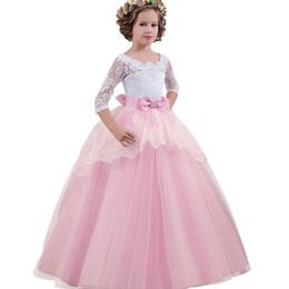 Robes de demoiselle d'honneur pour les enfants de mariage robe de fête d'anniversaire robe de fille de fleur élégante princesse partie de fuite ? partir de fabricateur