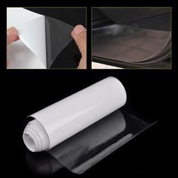 Autocollant de fibre de carbone de capot de voiture en Ligne-10/15 / 20cm film de protection en PVC de peinture de capot de pare-chocs de voiture effacer bouclier anti-rayures