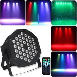 Argentina 36 LED Par Lights Stage RGB LED Up Wash con control remoto y control DMX para Disco DJ Party Wedding Club Show Beam light Suministro