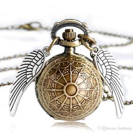 Relógio dourado on-line-Pequeno legal de ouro pomo fob relógio de bolso de quartzo com colar de corrente melhor presente pingente de aniversário pingente cheio de caçador para crianças