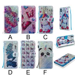 Neueste einhorn butterfly panda butterfly muster pu ledertasche für iphone xs max xr xs 8 plus 7 plus kartensteckplatz stehen brieftasche abdeckung von Fabrikanten