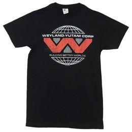 2019 logotipos de filmes Filme Alienígena Weyland-Yutani Corp Logo Adulto Camiseta Mens 2018 Marca de moda O-pescoço 100% algodão logotipos de filmes barato
