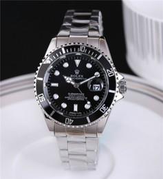 Relojes de banda digital online-2019 Rolex caliente de alta calidadMarca de calidad 40mm Para Hombre Relojes de diamantes para mujer Reloj Fecha auto Banda de acero principal Hombres Mujeres relojes de pulsera 01