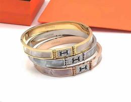 2019 diseños de brazaletes para niñas Diseño de moda Brazaletes de diamantes Diseñador de marca Pulseras H Pulseras de lujo para mujer Pulseras de boda para niñas Regalo de fiesta rebajas diseños de brazaletes para niñas