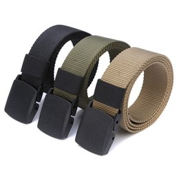 bb057e5cc22 Discount military nylon belts - Men Tactical Belt Nylon Military Waist  Buckle Canvas Belt Outdoor Camping