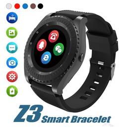 Relógio esperto do andróide do punho de Z3 Bluetooth Smartwatch com a ranhura para cartão do TF SIM da câmera para o andróide com pacote varejo de Fornecedores de telefonema despertador
