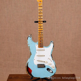 2019 private aktiengitarren Neue handgemachte bleibt ST E-Gitarre Gitarre John Masterbuilt Kreuz John Mayer. gitaar strato Reliquien durch die Hände