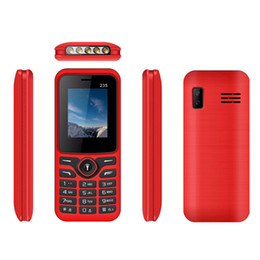 Double téléphones mobiles pas cher en Ligne-235 Téléphone portable Double Sim 64 Mo / 32 Mo 8 W Support caméra Audio MP3 MP4 Support Bluetooth 2.0 Débloqué Téléphone Mobile pas cher DHL