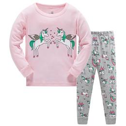 Hosen Pyjamas Nachtwäsche Jungen Mädchen Sets Homewear Schulter Schnalle Top