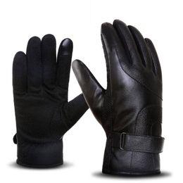 BING YUAN HAO XUAN мужская зимняя имитация кожи тепловые теплые перчатки мужские зимние смартфоны с использованием перчаток вождения нескользящей перчатки от Поставщики компьютерные перчатки без пальцев