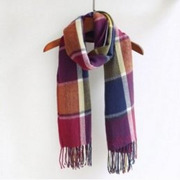 54b1249ffc4 Plaid écharpe hiver 2018 écharpe en faux cachemire châle à franges laine  laine écharpe tricotée en gros sur mesure écharpes frangées en gros offres
