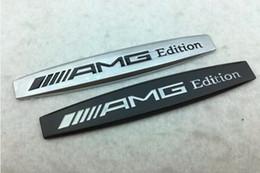 2019 autoadesivo di riciclaggio 3D Metal AMG Edition Letters Parafango Emblema Badge Sticker Decal Trunk Emblem Badge Sticker per Mercedes Benz