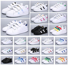 sneaker kopf schuhe Rabatt Hot Classics Kinder Stan Smith Shell Kopf Kinder Jugend Superstar Mädchen Kind Jungen Baby-Schuh-beiläufige Sport-Turnschuhe Größe 24-35