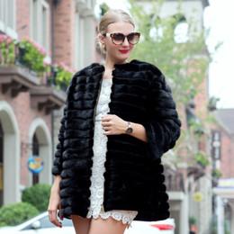 modelo mse Desconto 2018Hot vendendo modelos no outono e inverno mink coat, listrado naturais casaco de pele casaco de couro preto das mulheres 70 cm Ms.