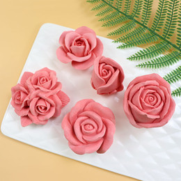 candle moulds Coupons - large size silicone mould soap candle fondant making mold 3D Rose Flower Shape DIY Gadget pastry cake decoration baking tool