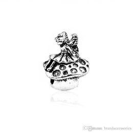 pilzcharme armband Rabatt Bronzierte Kupfer Lose Perlen Silber Schmetterling Pilz Skulptur Perlen Für Pandora Charms Armbänder Armreif Anhänger DIY Schmuckzubehör HJ27