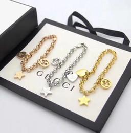 2019 conjunto de brazalete de oro antiguo lv pulsera elegante del oro de la astilla / RoseLouisCadena Vuitton brazalete redondo del círculo diseñadores pulseras para las mujeres joyería lujo de la marca