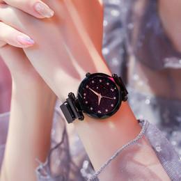 2019 mädchen schöne uhren Luxus Mode Quarzuhr für Frauen Magnetische Sternenhimmel Uhr Damen Weiblichen Strass Schöne Armbanduhr Beste Geschenk für Mädchen günstig mädchen schöne uhren