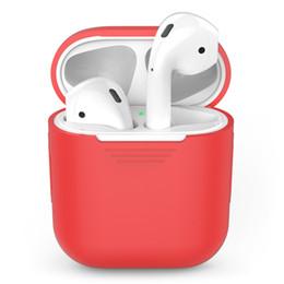 Schockzubehör online-Silikon Shock Proof Protector Hülle für Apple AirPods Hülle für AirPods True Wireless Earphone Box Zubehör