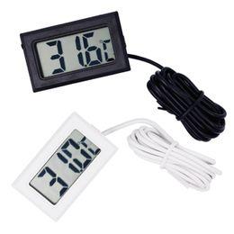 mini congeladores Rebajas Venta caliente Mini Digital LCD Sonda Termómetro Congelador Frigorífico Termómetro para refrigerador -50 ~ 110 grados batería incluida