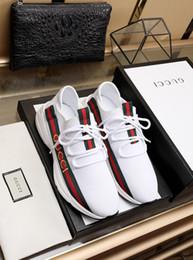 Мужская обувь из натуральной кожи онлайн-2019e ограниченный выпуск мужской бренд кожаной моды повседневная обувь, чтобы помочь кроссовки, полный комплект оригинальной обувной коробке 38-45