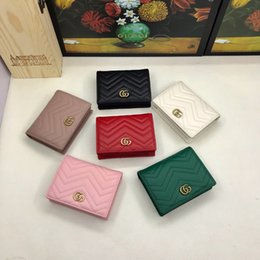 Variedad bolsas online-Cartera para mujer Estilo clásico europeo y americano de moda, una variedad de opciones de color, bolso de cambio de dinero a corto, sin cargo, G049