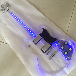 corps de guitare électrique Promotion Corps en acrylique corps acrylique jeune SG SG 500 500 Light Light On Guitar Guitar Guitarra