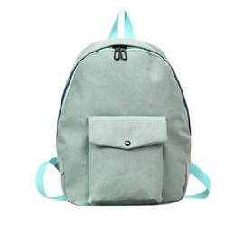 Tela de algodón Colores dulces Mochila para adultos Mochila escolar para niñas adolescentes Bolso sólido Bolsas para estudiantes Viaje desde fabricantes