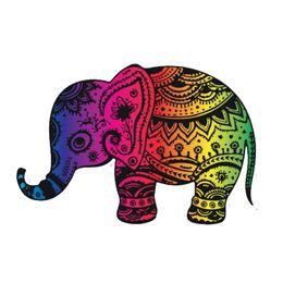 Canada Éléphant Arc-En-Autocollant Drôle Voiture Bumper Populaire Vinyle Applique Personnalité Accessoires supplier elephant applique Offre