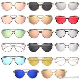all'ingrosso Lady epoca in oro rosa di gatto occhiali da sole occhi delle donne Brand Design Twin-fasci ottici degli occhiali Occhiali da sole per i giocattoli femminili da cosmetici naturali fornitori
