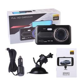 """4 """"IPS Dual Lens Car Dash Cam FHD 1080P Dashboard Camera 170 gradi di guida del veicolo DVR Registratore G-Sensor Parking Monitor WDR A1 da cuscino della spalla del cinturino fornitori"""