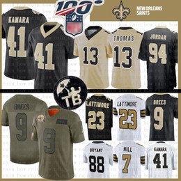 Brees camisa de futebol on-line-9 Drew Brees Nova Orleans Jersey 41 Alvin Kamara saintss homens Michael Thomas 7 Taysom Hill 23 Marshon Lattimore Dez Bryant Football 94 Cameron