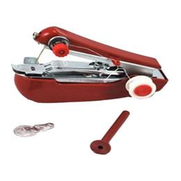 Manuale portatile Mini macchina da cucire Manuale portatile Casa viaggio Piccolo fai da te cucito Cordless Machine tessuto Stitch Accessorio da