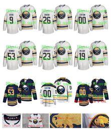 Изготовленные на заказ nhl jerseys онлайн-НХЛ Баффало Джерси пятидесятый сезон Третий Джефф Скиннер Виктор Олофссон Айкел Montour Rasmus Далин Ристолайнен Пользовательские Хоккейный