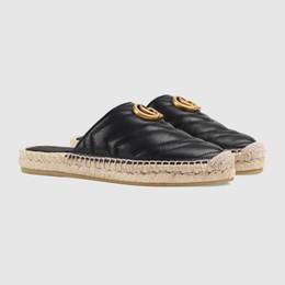 Scarpe piatte usate online-2019 classiche scarpe da pescatore leggero da donna, Espadrillas Flats with Straw Weaving Sui Casual Pantofole da donna Slip-on per uso quotidiano