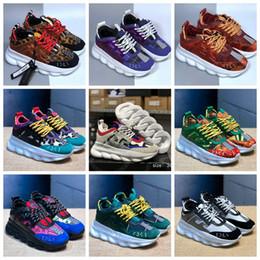 Nuevos colores de reacción en cadena zapatillas de deporte para hombre zapatillas de deporte ligeras ligeras ligadas suela de goma diseñador de la marca de moda zapatos desde fabricantes