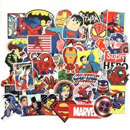 Eisen kinder aufkleber online-50Pcs / Lot Anime-Klassiker Aufkleber Spielzeug für Laptop Skateboard Gepäck Abziehbild Dekor Lustiger Iron Man Spiderman Aufkleber für Kind-Autoaufkleber